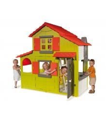 Детский домик для дачи Smoby двухэтажный коттедж 320021