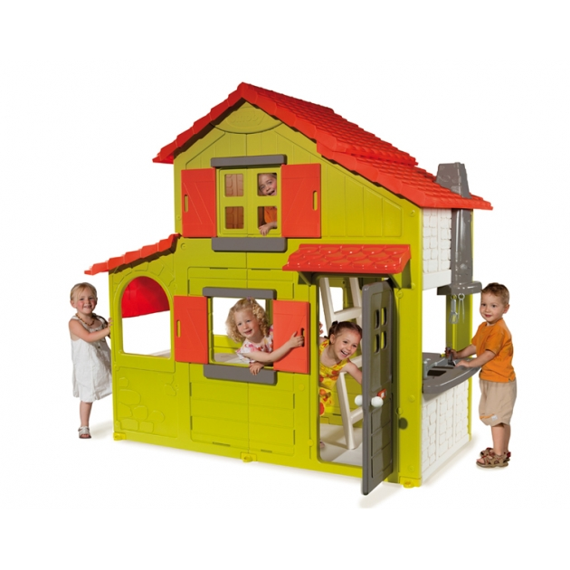 Детский домик Smoby двухэтажный коттедж 320021