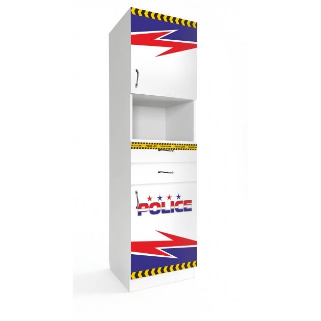 Детский шкаф пенал Старкис Спорткар / Субару Полиция