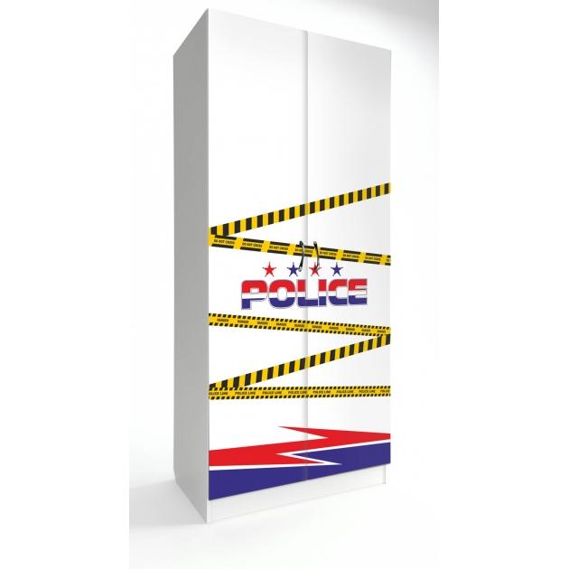 Детский двухстворчатый шкаф Старкис Спорткар / Субару Полиция