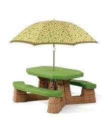 Детский столик для улицы Step 2 Пикник с зонтиком 843800...