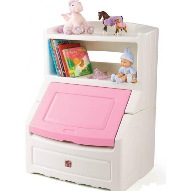 Ящик комод для игрушек Step 2 с розовой крышкой 885000