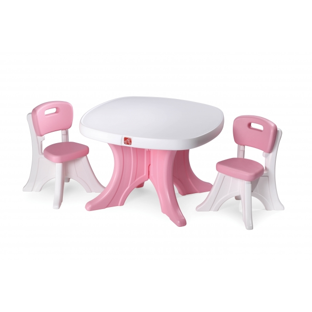 Детский столик со стульями Step 2 розовый с белой столешницей 708999