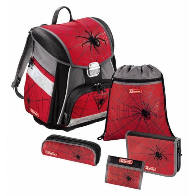 Ранец Touch Black Widow полиэстер красный/серый Step By Step