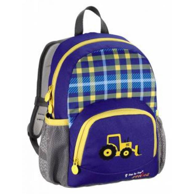 Рюкзак детский Junior Dressy Excavator синий/желтый Step By Step 00129121