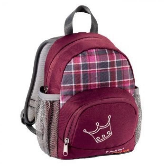 Рюкзак Junior детский Little Dressy berry-check 5.5х27.5х21.5 см. вишневый Step by Step H-103112