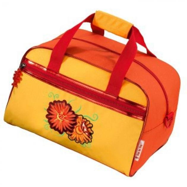 Сумка спортивная Sunny Flowers 21х 21х 34 см. оранжевый/желтый Step by Step H-102881