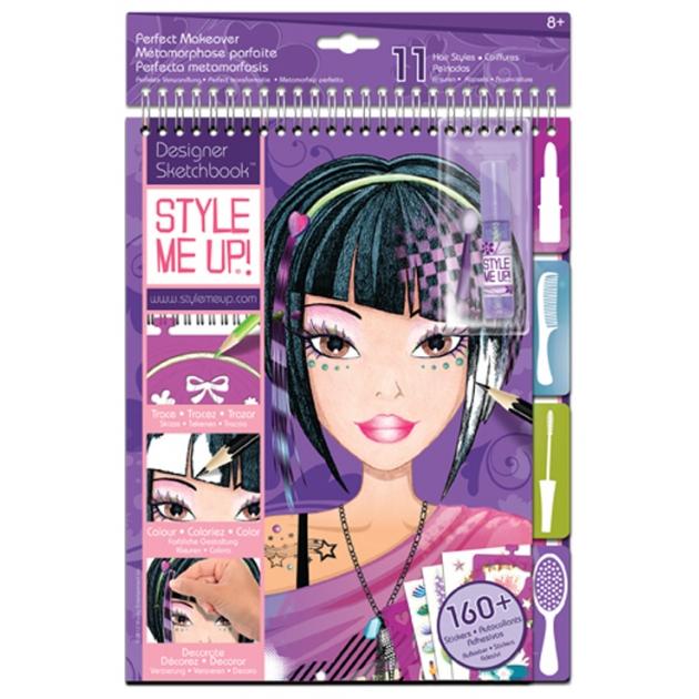 Альбом с трафаретами Style Me Up Идеальный макияж 1421