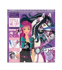 Альбом с трафаретами Style Me Up Модная наездница 1435