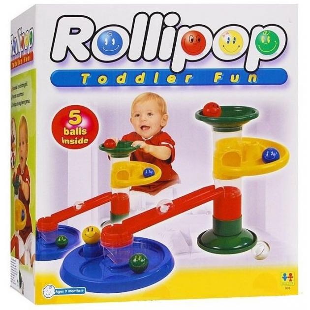 Конструктор Крутые виражи Rollipop 10 дет. 5 шаров Tototoys 803