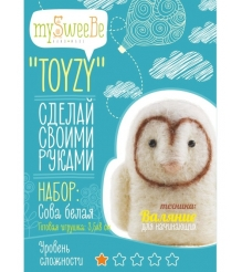 Набор для валяния Toyzy Сова Белая начальный TZ-F006...