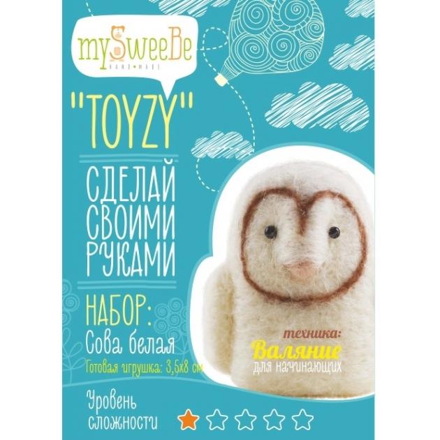 Набор для валяния Toyzy Сова Белая начальный TZ-F006