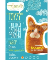 Набор для валяния Toyzy Кошка начальный TZ-F008