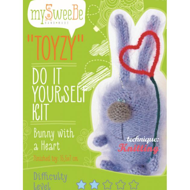 Набор для вязания Toyzy Зайка с сердцем TZ-K004