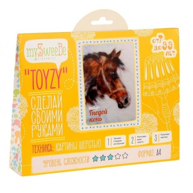 Набор для картин шерстью Toyzy Гнедой конь TZ-P001