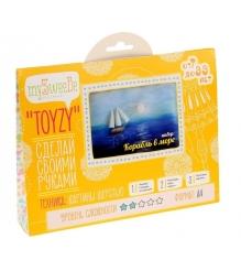 Набор для картин шерстью Toyzy Корабль в море TZ-P017...