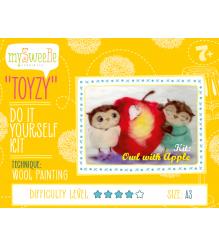 Набор для картин шерстью Toyzy Совушки с яблоком TZ-P026...