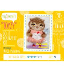 Набор для картин шерстью Toyzy Сова с подарком TZ-P032...