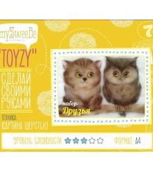 Набор для картин шерстью Toyzy Друзья TZ-P033