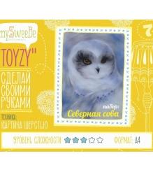 Набор для картин шерстью Toyzy Северная сова TZ-P034...