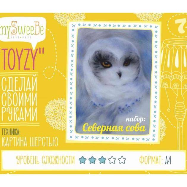 Набор для картин шерстью Toyzy Северная сова TZ-P034