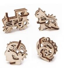3D Пазл Ugears Трибики 4 штуки 70015