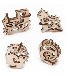 3D Пазл Ugears Трибики 4 штуки 70015...
