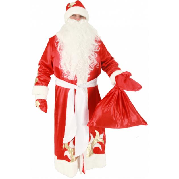 Карнавальный костюм для мальчика Вестифика Дед Мороз красный