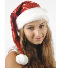 Новогодний колпак из парчи Вестифика красный