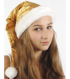 Новогодний колпак из парчи Вестифика золотой