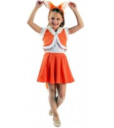 Карнавальный костюм для девочки Вестифика Лисичка с юбочкой...