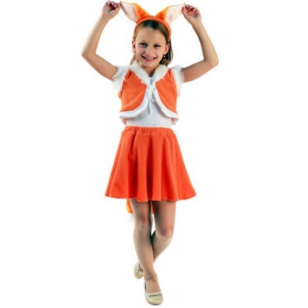 Карнавальный костюм для девочки Вестифика Лисичка с юбочкой