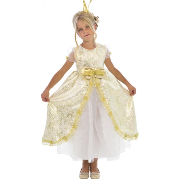 Карнавальный костюм для девочки Вестифика Принцесса Золотая Люкс
