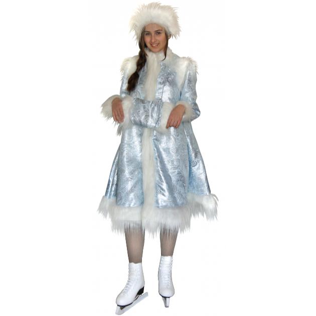 Карнавальный костюм для девочки Вестифика Снегурочка голубая