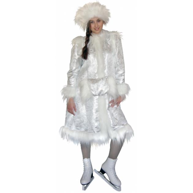 Карнавальный костюм для девочки Вестифика Снегурочка серебряная