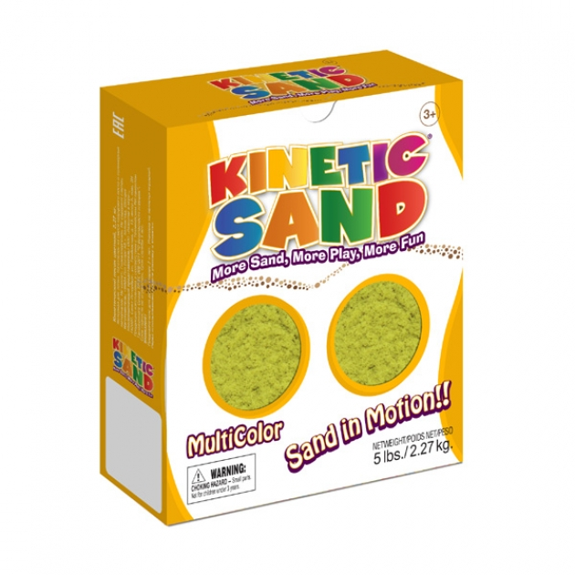 Кинетический песок WABA FUN Kinetic Sand желтый (2,27 кг) 150-203
