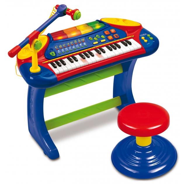 Игрушка музыкальные инструменты Электронное пианино со стульчиком Weina 2079