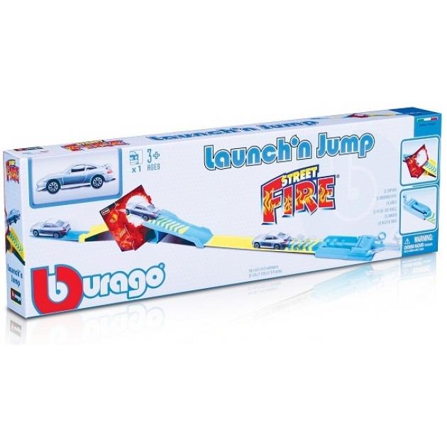 BBURAGO 1:43 BB Набор Трек с трамплином с пусковым устройством и 1 машина 18-30284
