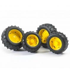 Шины для системы сдвоенных колёс  с жёлтыми дисками Bruder (Брудер) 02-012...