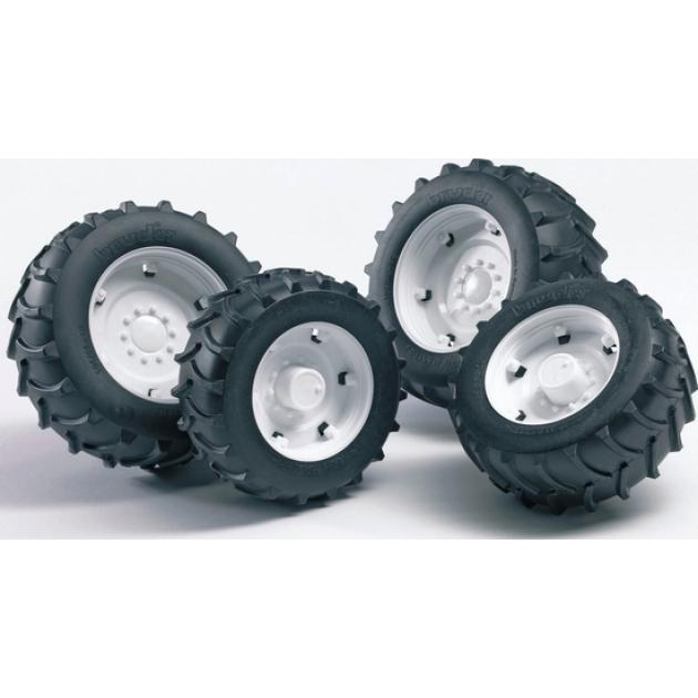 Шины для системы сдвоенных колёс с белыми дисками 4шт. Bruder (Брудер) (Арт. 02-014) (Аксессуары A)