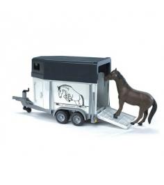 Прицеп bruder коневозка с лошадью Bruder (Брудер) 02-028...