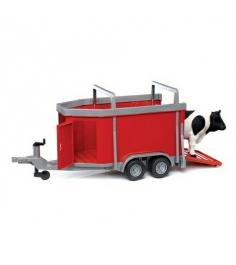 Прицеп bruder для перевозки крупного рогатого скота с коровой Bruder 02-029...