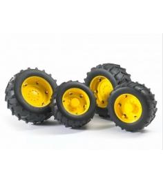 Шины для системы сдвоенных колёс  с жёлтыми дисками Bruder (Брудер) 02-321...