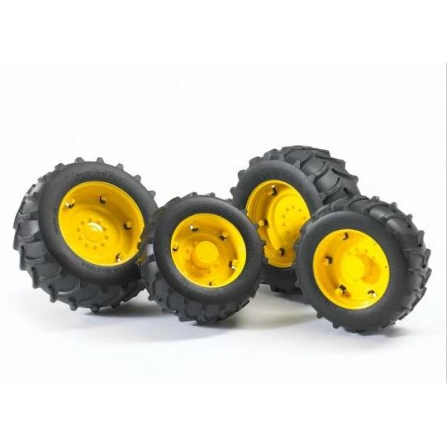 Шины для системы сдвоенных колёс с жёлтыми дисками 4шт. Bruder (Брудер) (Арт. 02-321) (Аксессуары A)