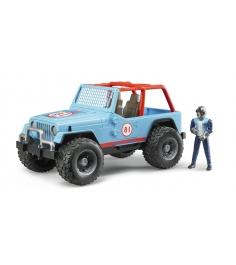 Игрушка джип внедорожник Cross Country Racer Bruder синий с гонщиком 02-541...