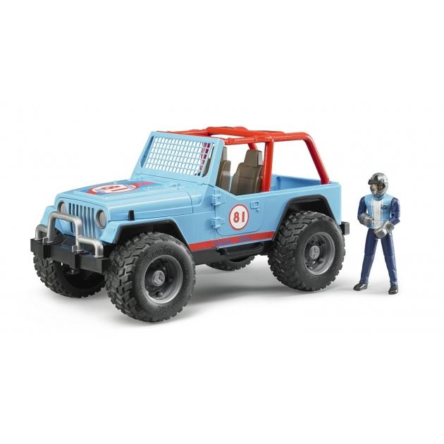 Игрушка джип внедорожник Cross Country Racer Bruder синий с гонщиком 02-541