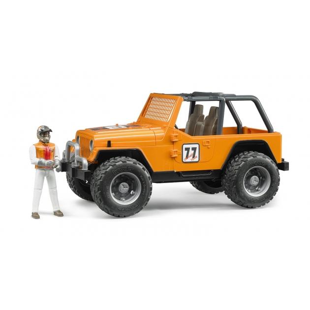 Игрушка джип внедорожник Cross Country Racer Bruder оранжевый с гонщиком 02-542