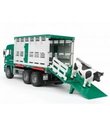 Фургон MAN для перевозки животных с коровой Bruder 02-749...