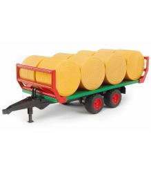 Прицеп Bruder для перевозки рулонов сена с 8 рулонами 02-220