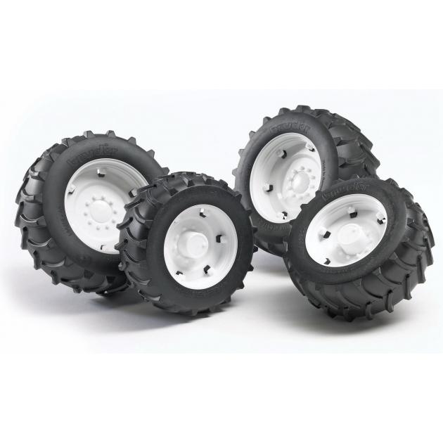 Колеса Bruder с белыми дисками к тракторам серии 2000 02-323